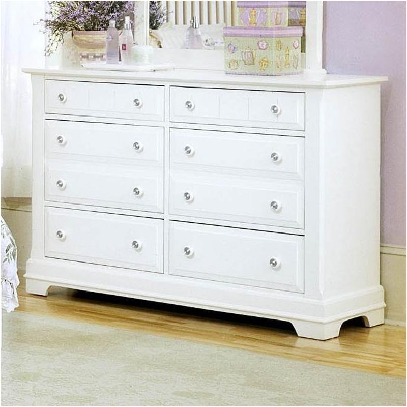 Bb24-001 Vaughan Bassett Furniture Cottage - Snow White Double Dresser -  Snow White