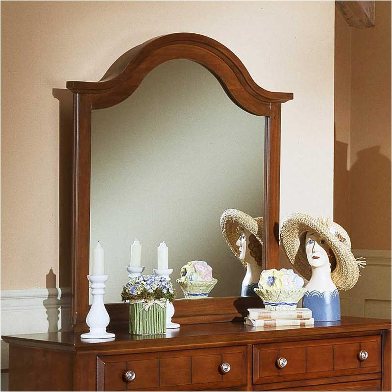 Bb19 442 Vaughan Bassett Furniture Cottage   Cherry Bedroom Mirror