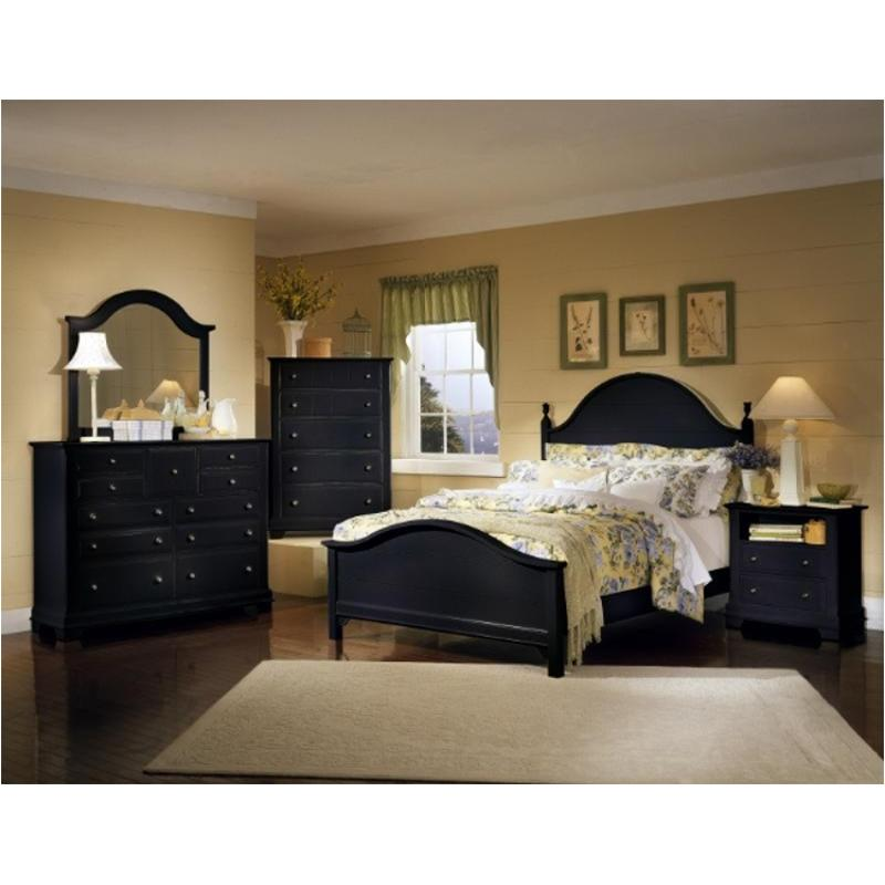 Bb16 558 Vaughan Bassett Furniture Queen Panel Bed Black