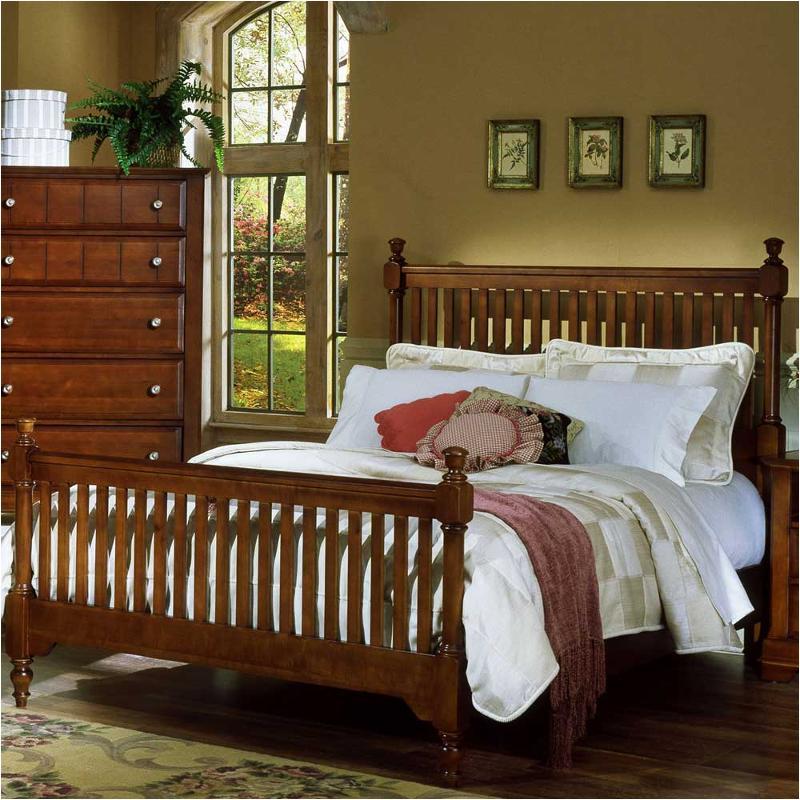 Bassett Furniture Online: Bb19-337 Vaughan Bassett Furniture Twin Slat Poster Bed-cherry