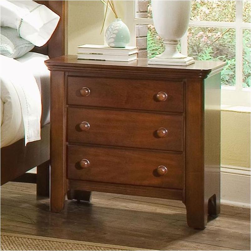 801 227 Vaughan Bassett Furniture Cottage Colours Heartland Cherry Bedroom Nightstand