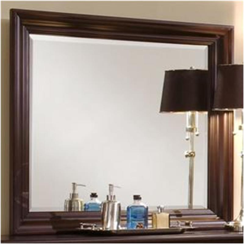 Bb8 446 Vaughan Bassett Furniture Twilight   Merlot Bedroom Mirror