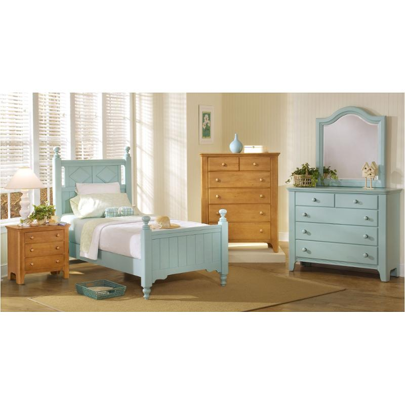 805 337 Vaughan Bassett Furniture Cottage Colours   Robins Egg Blue Bedroom  Bed
