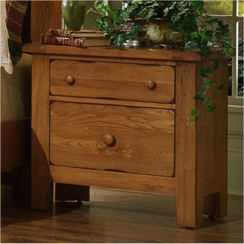 960-226 Vaughan Bassett Furniture Night Table-antique Oak