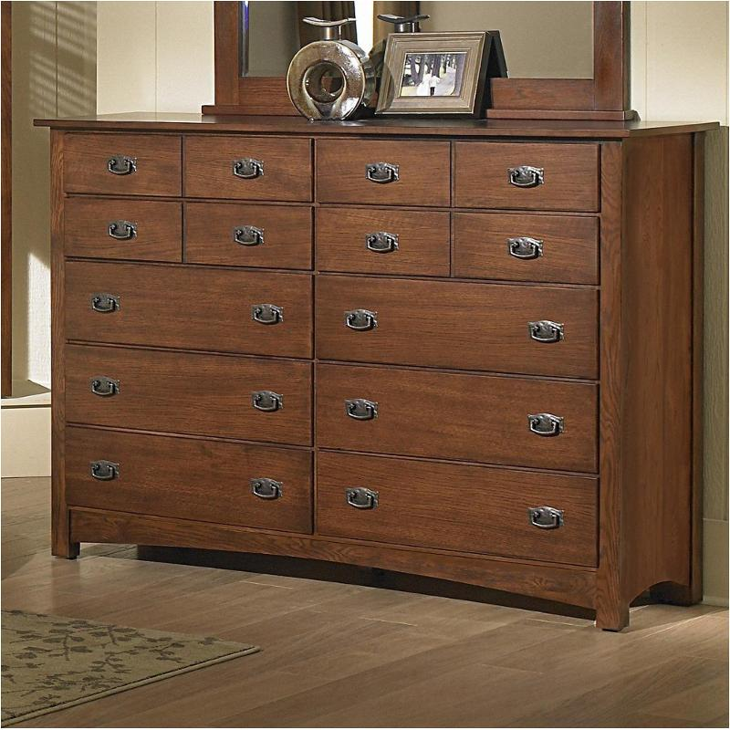 320 002 Vaughan Bassett Furniture Simply Arts And Crafts   Dark Oak Bedroom  Dresser