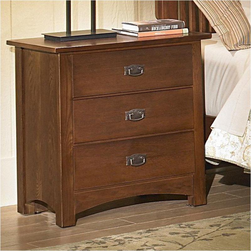 320-227 Vaughan Bassett Furniture Simply Arts And Crafts - Dark Oak Commode  - 3 Drawers-dark Oak