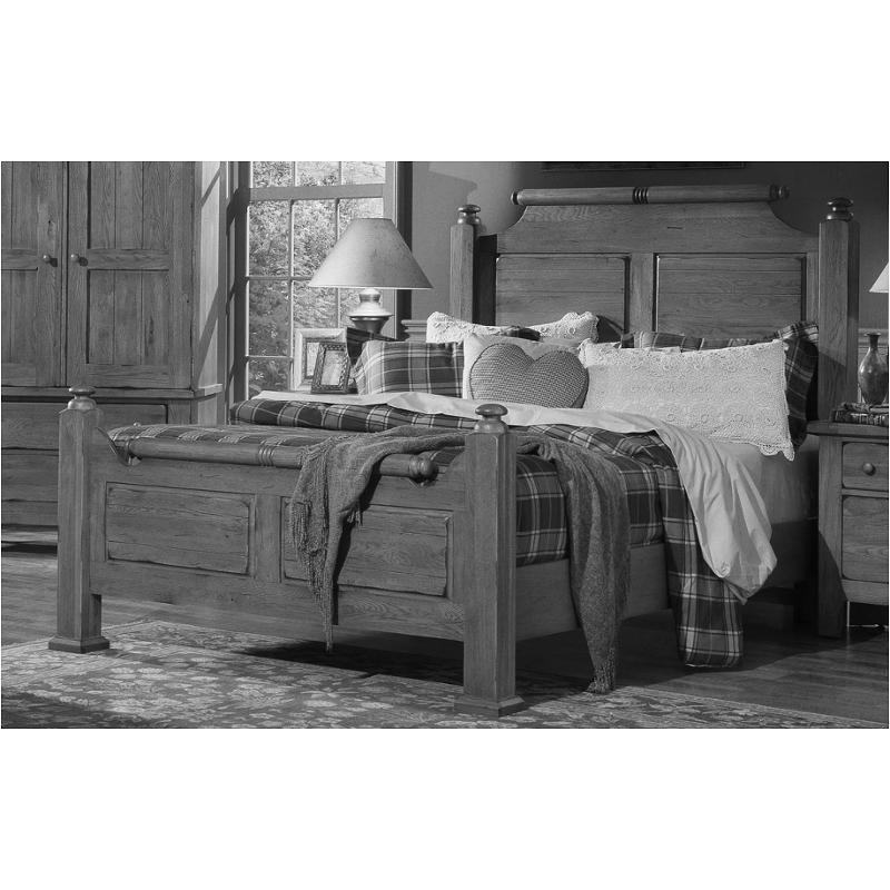 962-667-ck Vaughan Bassett Furniture Grandmas Keepsakes - Antique Black  California King Broomhandle Bed-antique Black