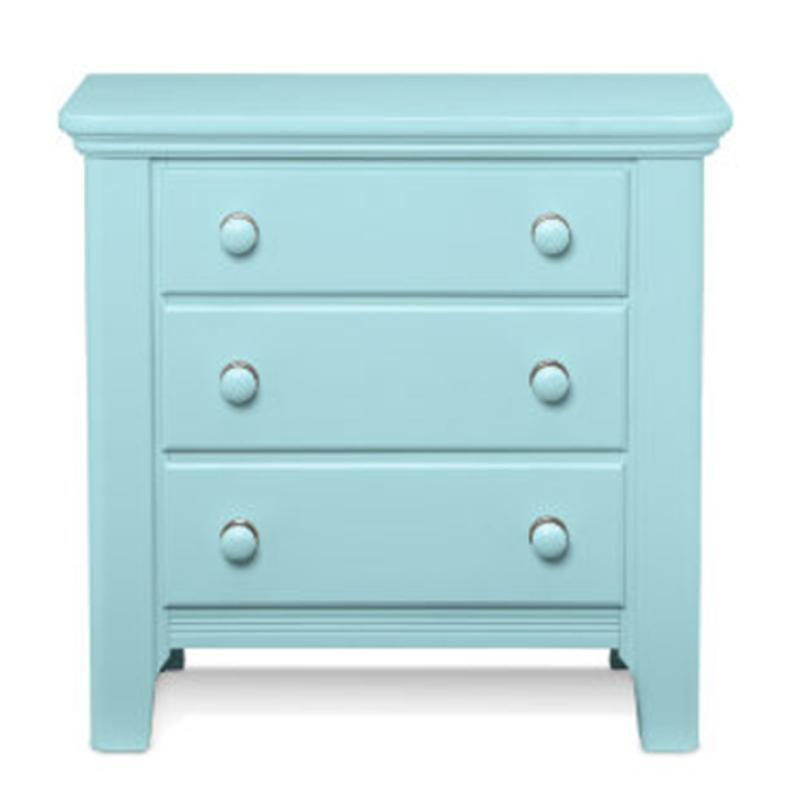 805 227 Vaughan Bassett Furniture Cottage Colours   Robins Egg Blue Bedroom  Nightstand