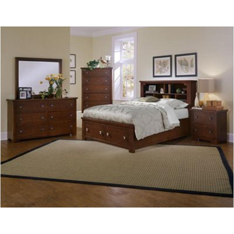 Bb25 515 St Vaughan Bassett Furniture Lifestyle   Dark Cherry Bedroom Bed