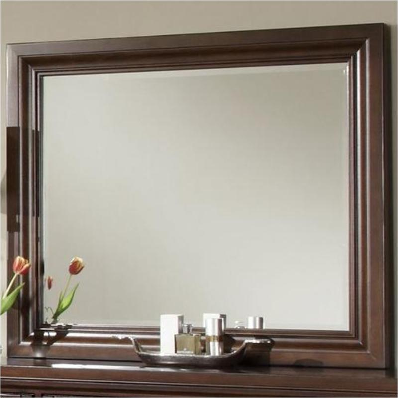 530 446 Vaughan Bassett Furniture Reflections   Dark Cherry Bedroom Mirror