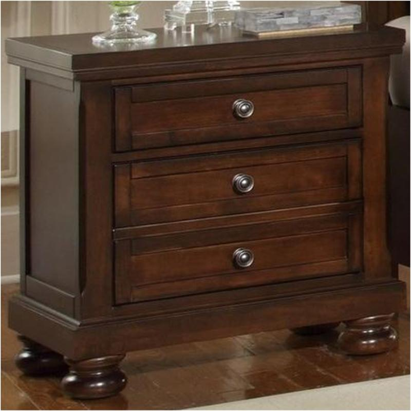 reflections furniture bedroom nightstand cherry bassett dark vaughan