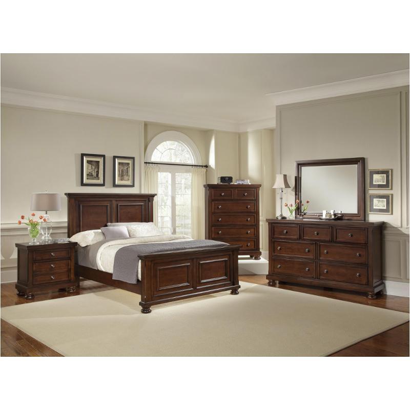 530 558 Vaughan Bassett Furniture Reflections Dark Cherry Queen Mansion Bed Dark Cherry