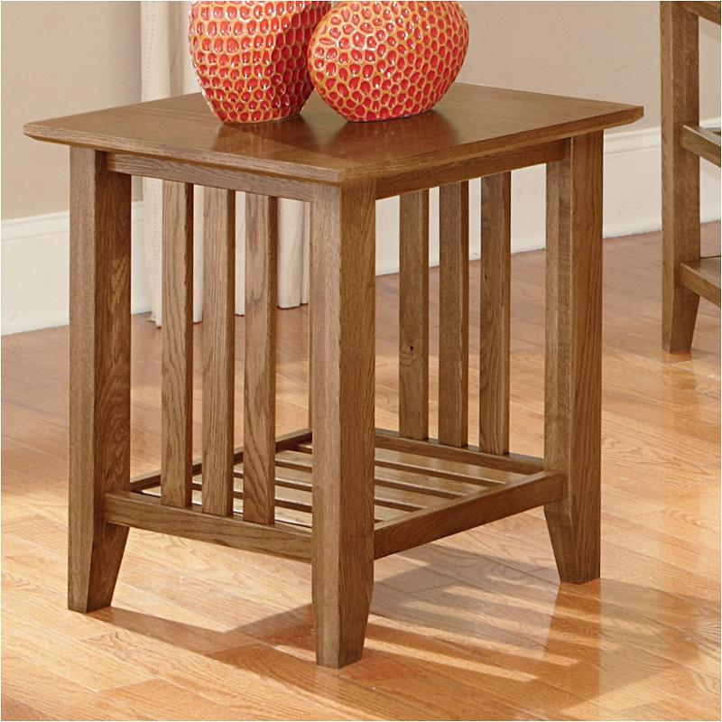 110 058 Vaughan Bett Furniture End Table Light Oak