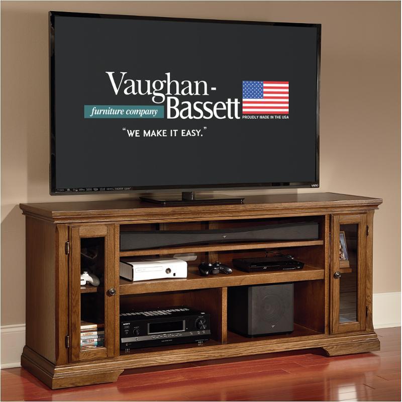 Traditional Dark Oak Furniture For 65659 Vaughan Bassett Furniture Traditional Dark Oak 66in Sound Bar Media Center