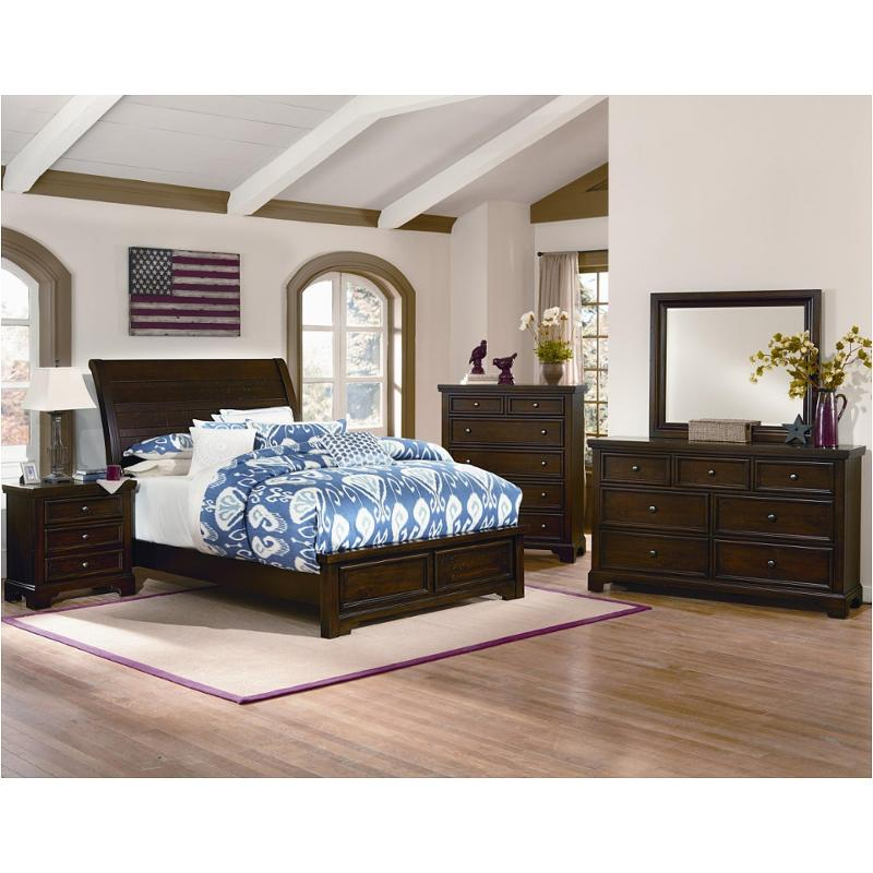810 553 Lp Vaughan Bassett Furniture Hanover Dark Cherry Bed