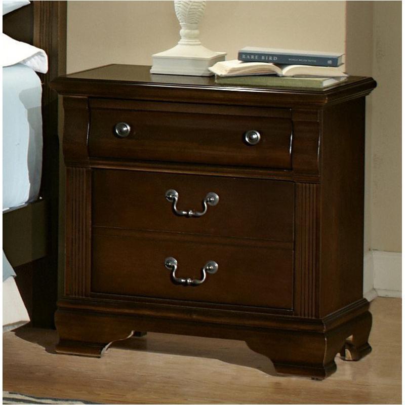 Bb1 226 Vaughan Bassett Furniture Addison   Dark Cherry Bedroom Nightstand