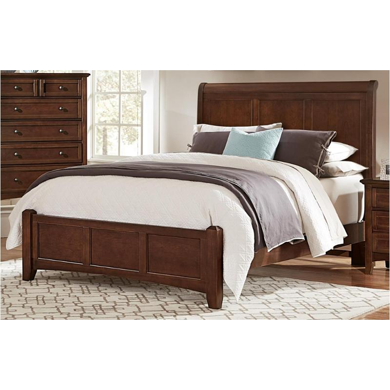 Bb28 553 vaughan bassett furniture queen sleigh bed cherry - Bassett bedroom furniture 1970 s ...
