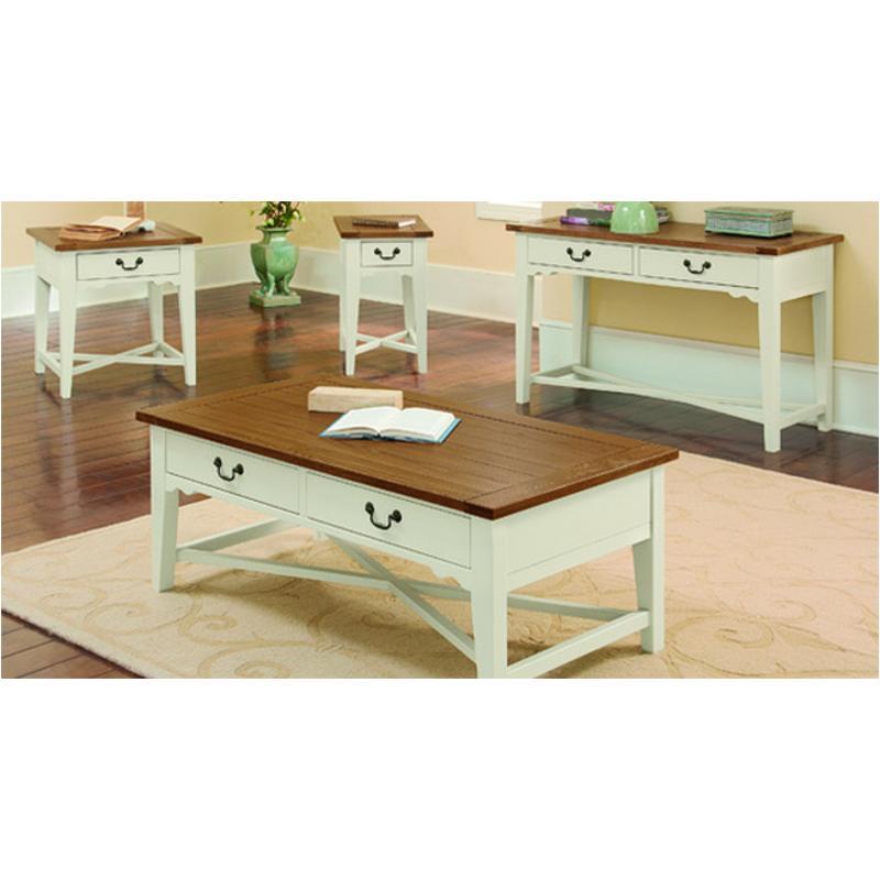 135 014 Vaughan Bassett Furniture Elizabeth White Oak Living Room Tail Table