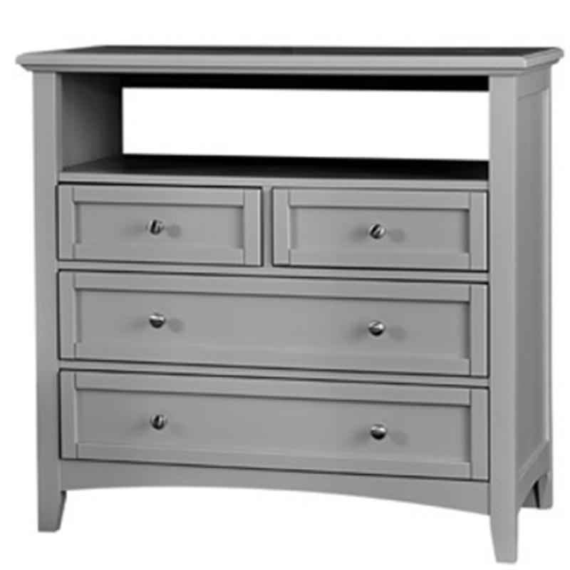 Bb26-114 Vaughan Bassett Furniture Media Unit - Grey