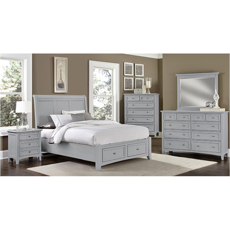 Bb26 226 Vaughan Bassett Furniture Bonanza   Grey Bedroom Nightstand