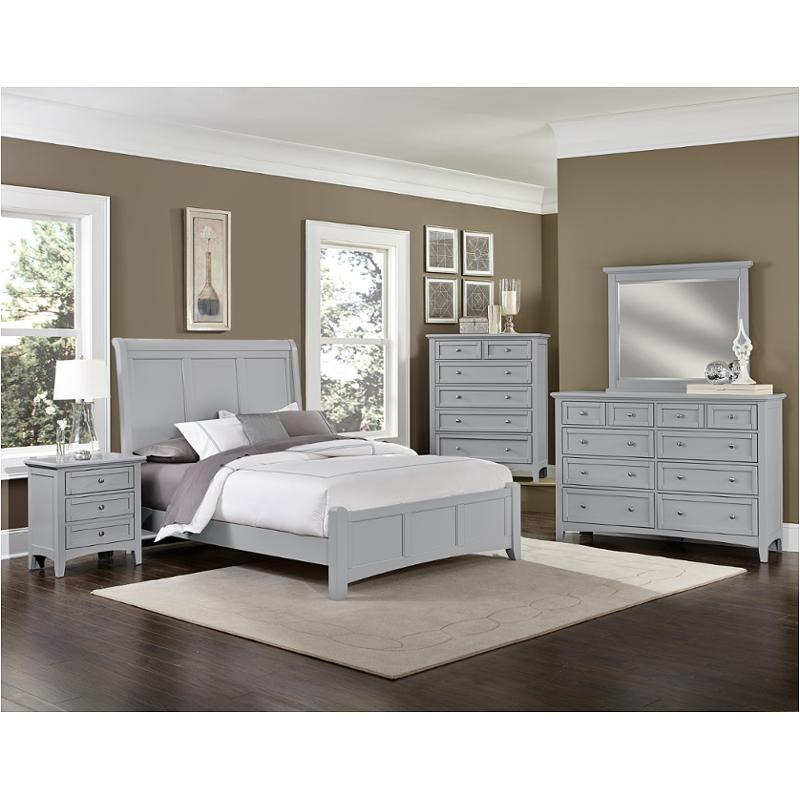 Bb26 663 Vaughan Bassett Furniture Eastern King Sleigh Bed Grey