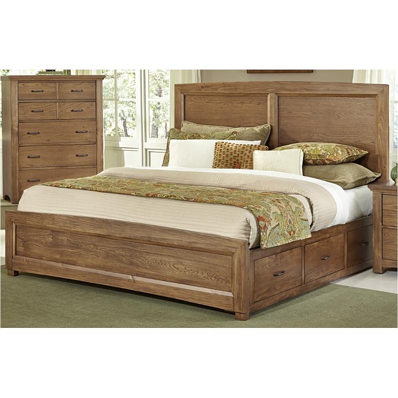 Bb63-558-st1 Vaughan Bassett Furniture Transitions - Dark Oak Queen Panel  Bed With One Side Storage - Dark Oak