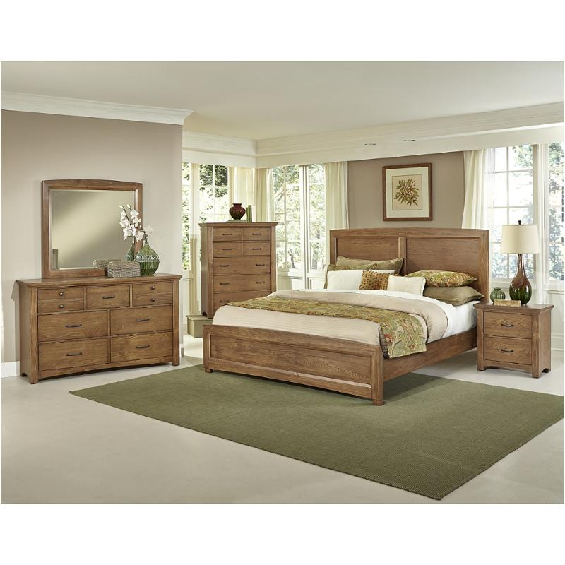 Bb63-668 Vaughan Bassett Furniture Transitions - Dark Oak King Panel Bed -  Dark Oak