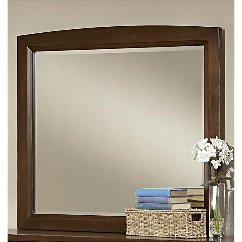 Bb68 446 Vaughan Bassett Furniture Transitions   Dark Cherry Bedroom Mirror