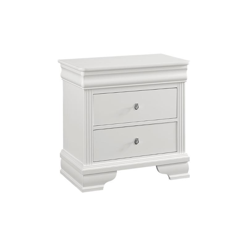 384 226 Vaughan Bassett Furniture French Market   Soft White Bedroom  Nightstand