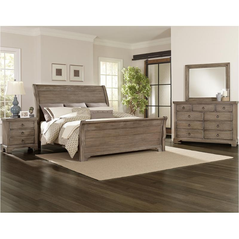 814 663 Vaughan Bett Furniture Whiskey Barrel Rustic Gray Bedroom Bed