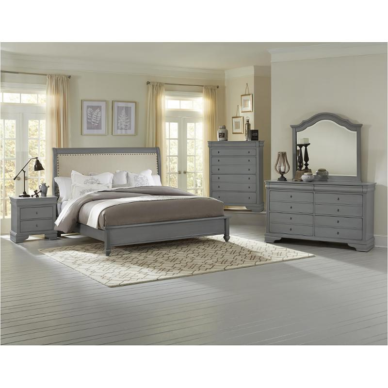 381 553 Vaughan Bassett Furniture French Market   Zinc Bedroom Bed