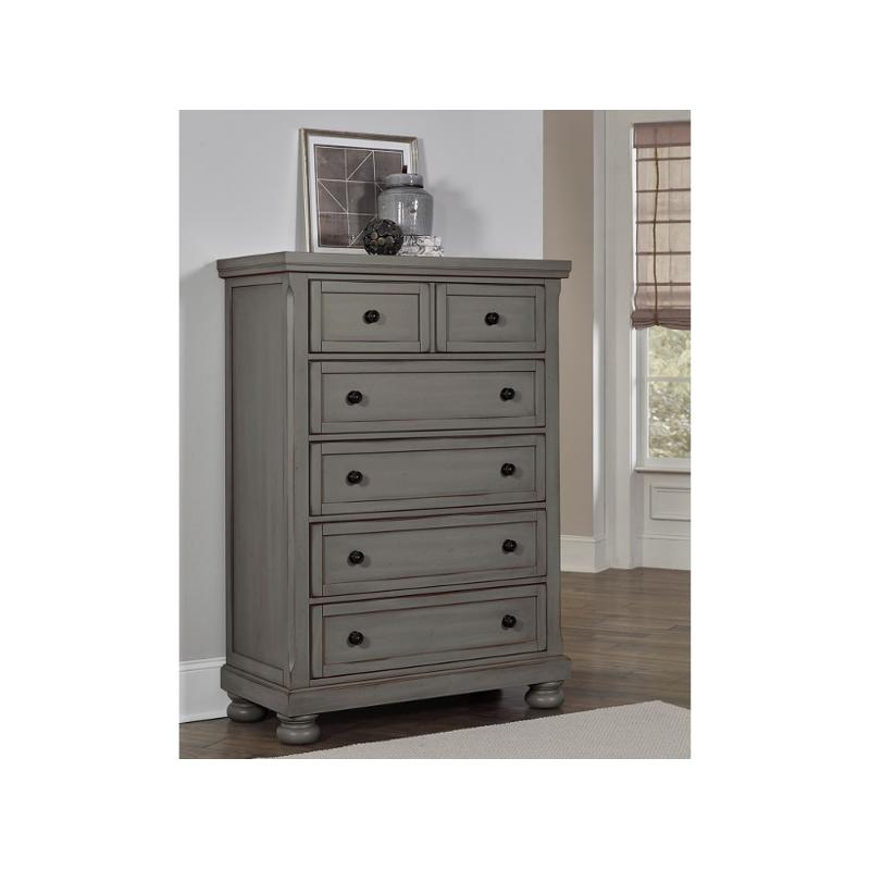 531 115 Vaughan Bett Furniture Reflection Antique Pewter Bedroom Chest