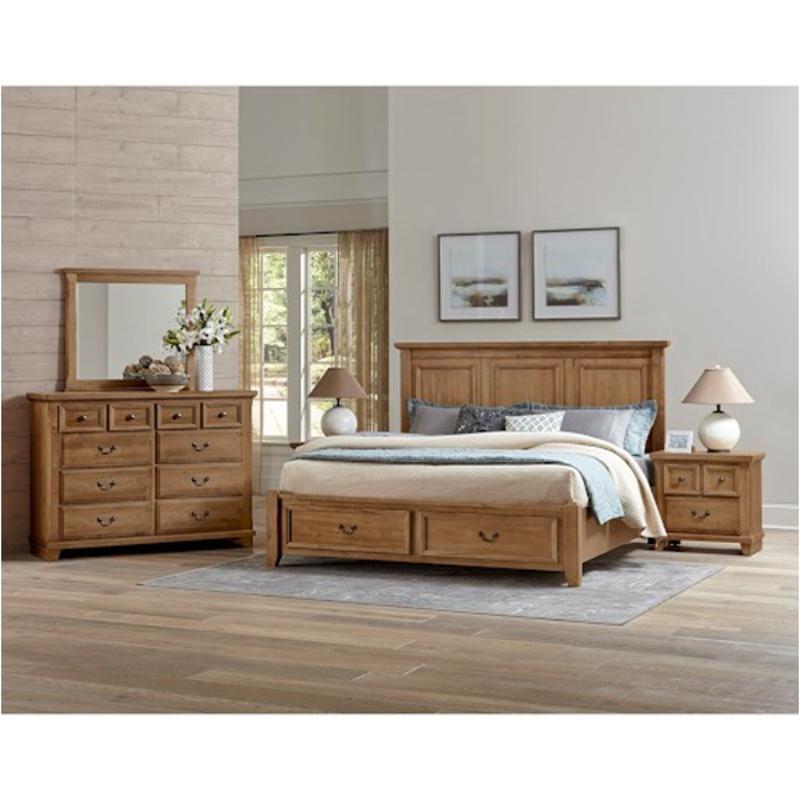 672 557 St Vaughan Bett Furniture Timber Creek Natural Maple Queen Mansion Bed
