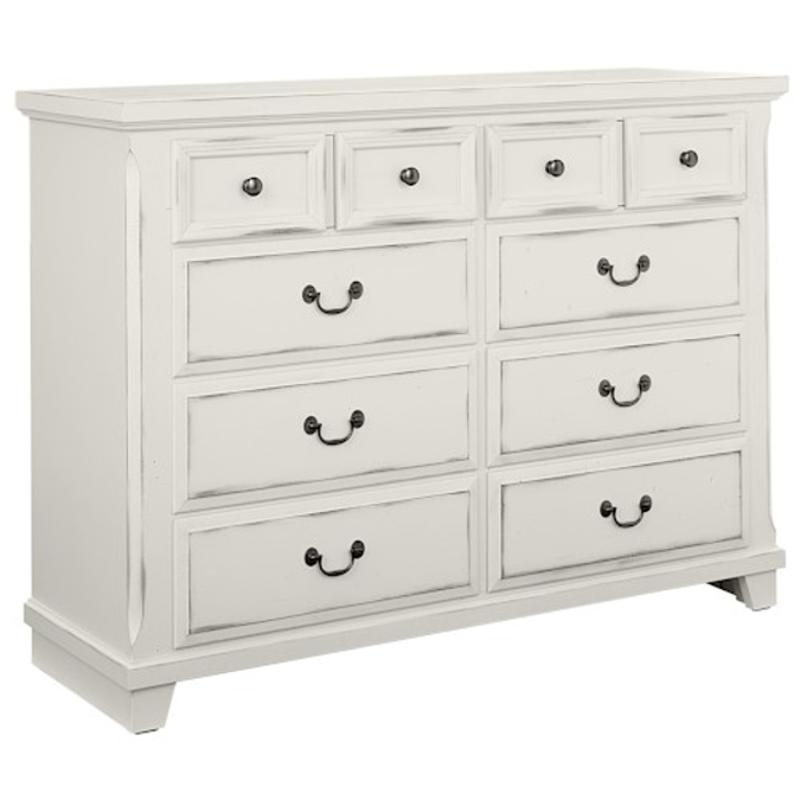 674 004 vaughan bassett furniture timber creek distressed white bedroom dresser - White Bedroom Dresser