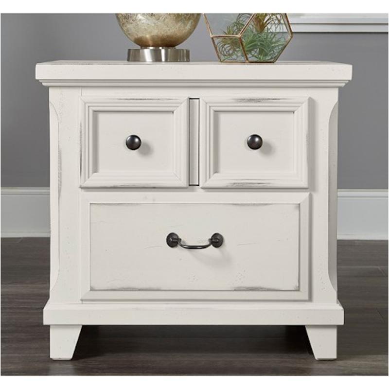 674-226 Vaughan Bassett Furniture Timber Creek - Distressed White 2 Drawer  Nightstand