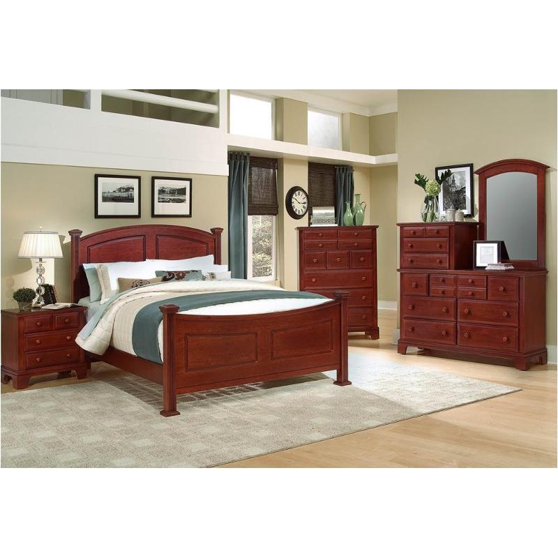 Bb5 558 Vaughan Bassett Furniture Hamilton/franklin   Cherry Bedroom Bed