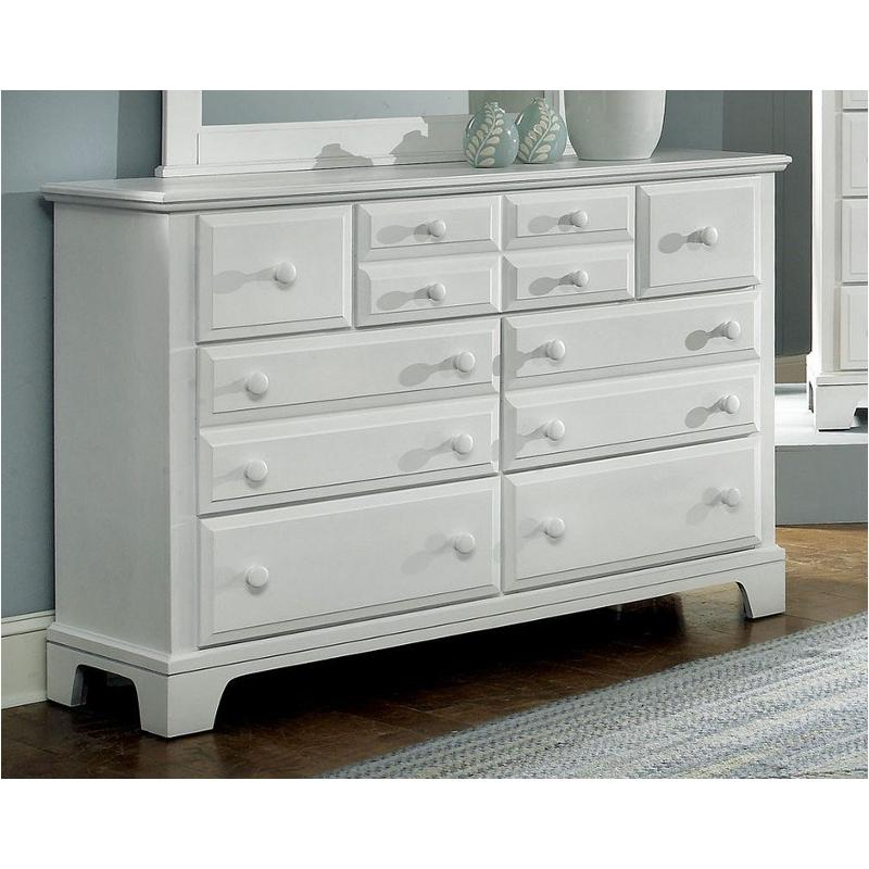 Bb6-002 Vaughan Bassett Furniture Hamilton/franklin - Snow White Triple  Dresser - Snow White
