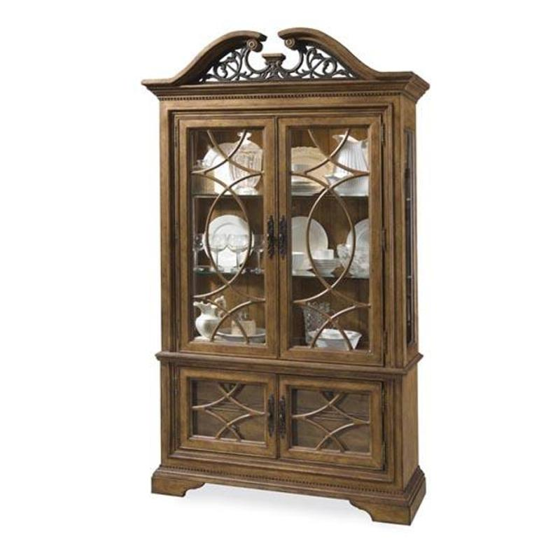 175241 2636tp A R T Furniture American Memories Display Cabinet Hickory