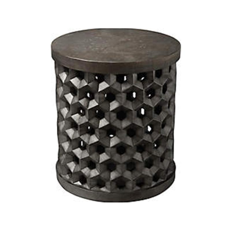 238305-0027 A R T Furniture Geode Tanzanite Drum Table