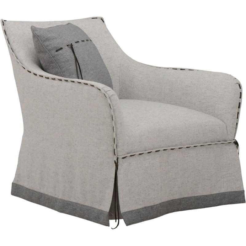 547516-5201aa A R T Furniture American Chapter Tryon Heather Grey Swivel  Chair