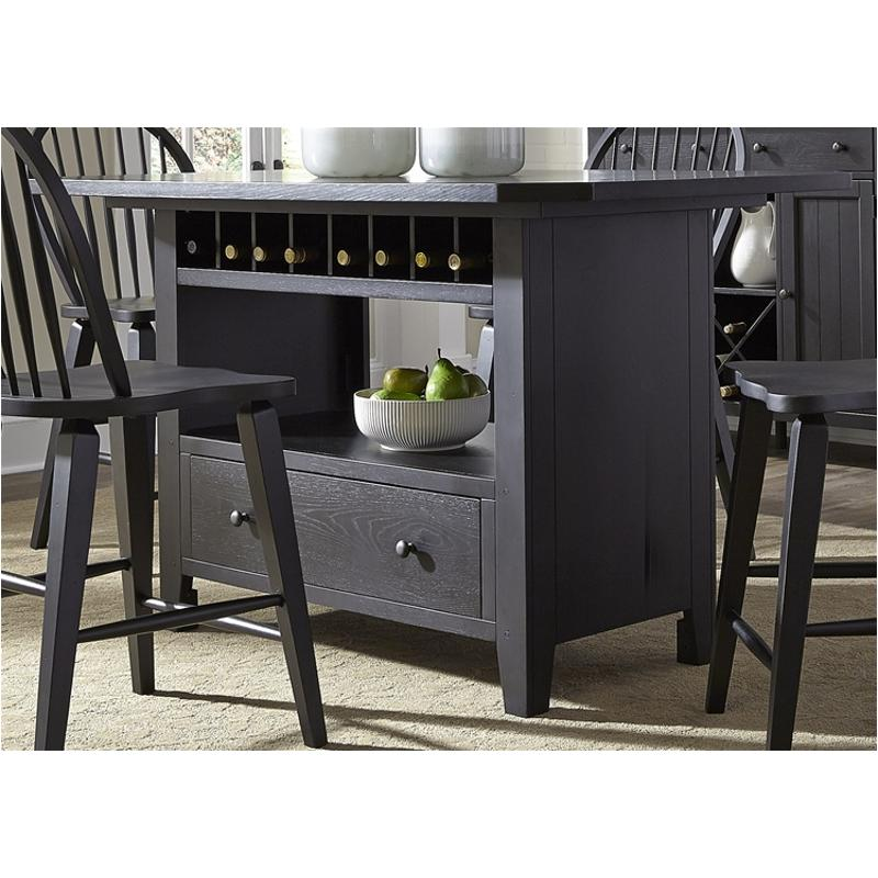 482 Gt3660b Liberty Furniture Hearthstone Black Dining Room Counter Height Table