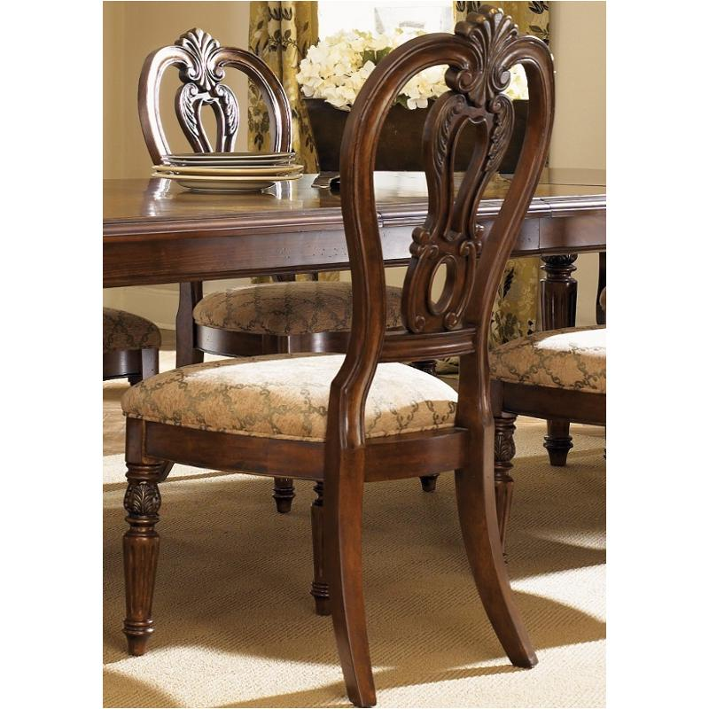 Messina Estates Seven Piece Traditional Dining Table And: 737-c2501s Liberty Furniture Splat Back Side Chair