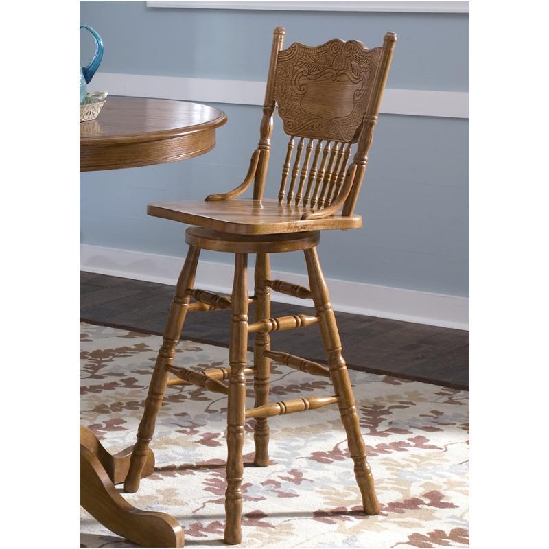 10 B51730 Liberty Furniture Nostalgia 30 Inch Press Back Barstool