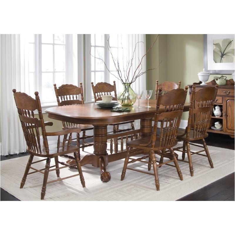 18 T570 Liberty Furniture Old World Dining Room Table