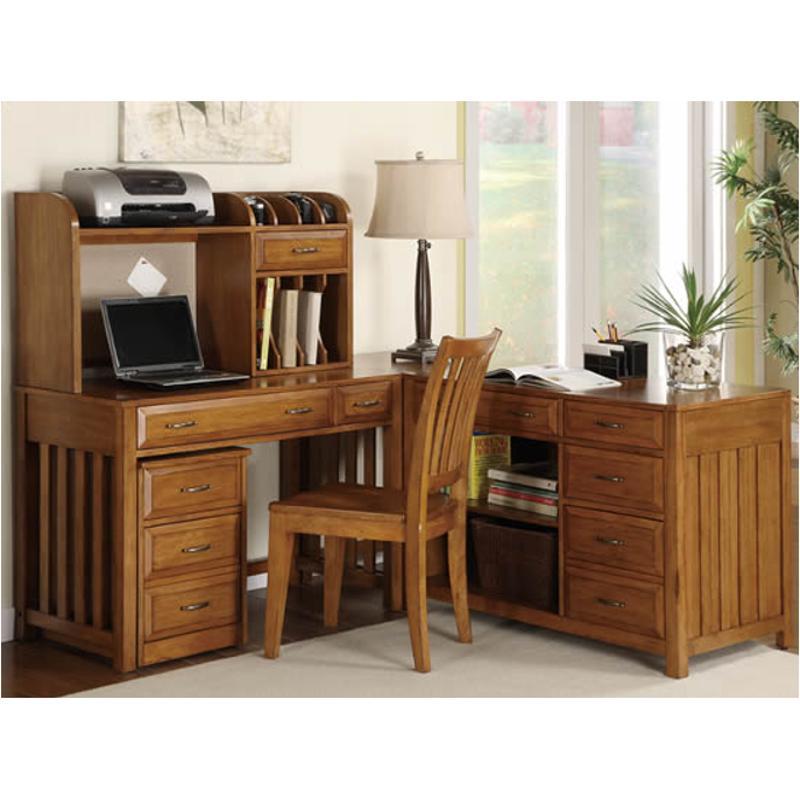 719 Ho140 Liberty Furniture Hampton Bay   Oak Home Office Desk