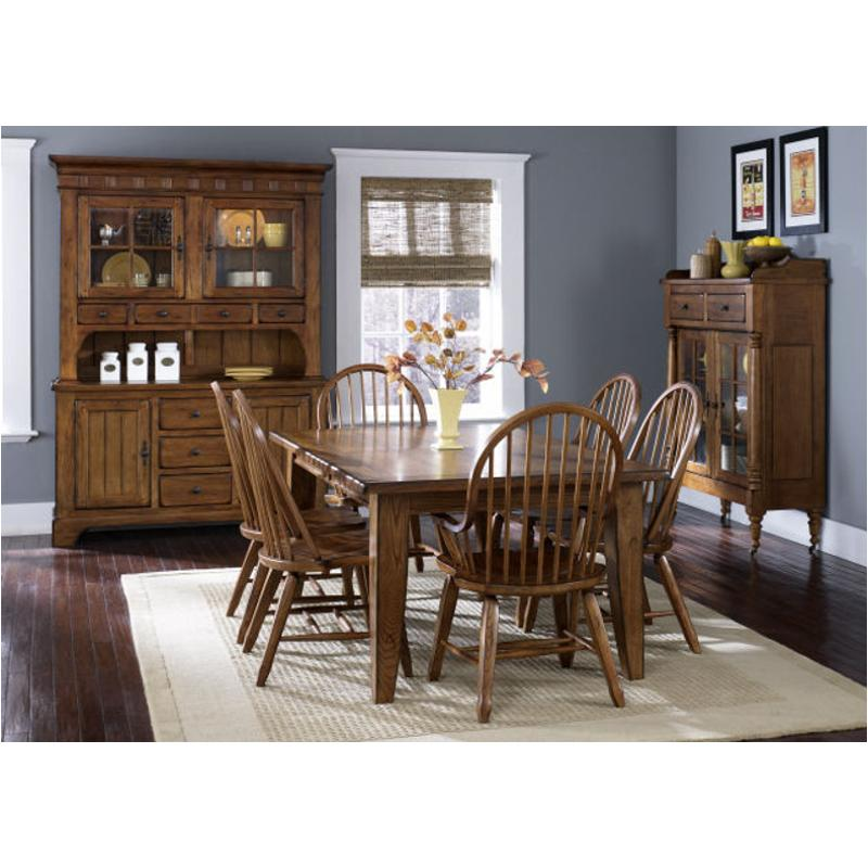 17 T4408 Liberty Furniture Treasures Oak And Black Dining Room Table