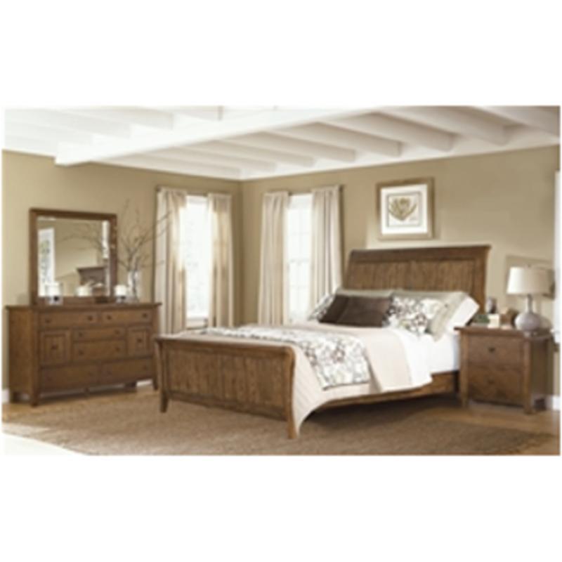 382 Br21f Liberty Furniture Hearthstone Oak Queen Sleigh Footboard