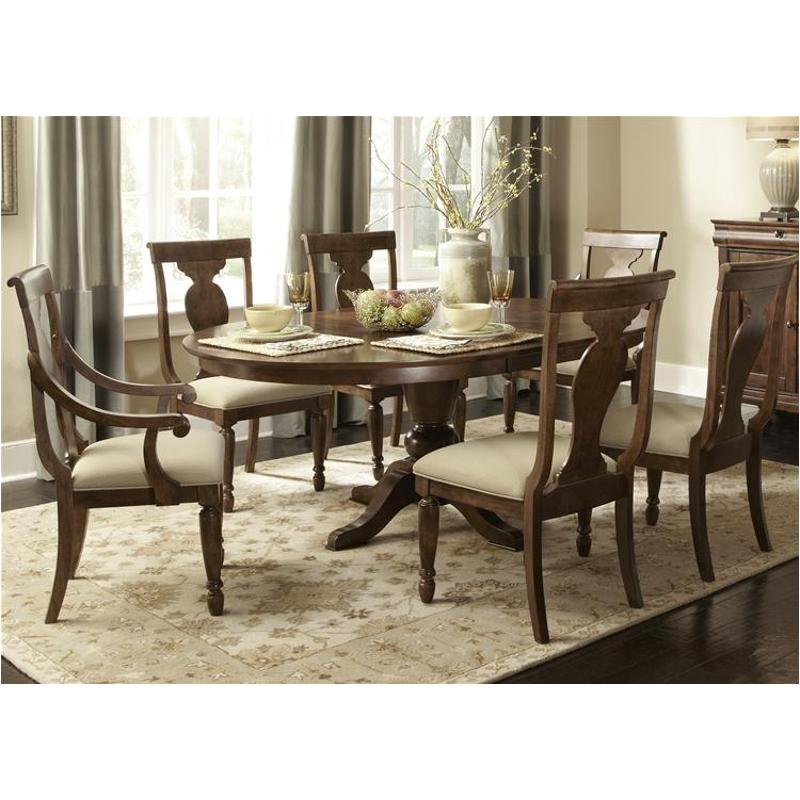 589-t5472 Liberty Furniture Rustic Traditions Oval Table Set