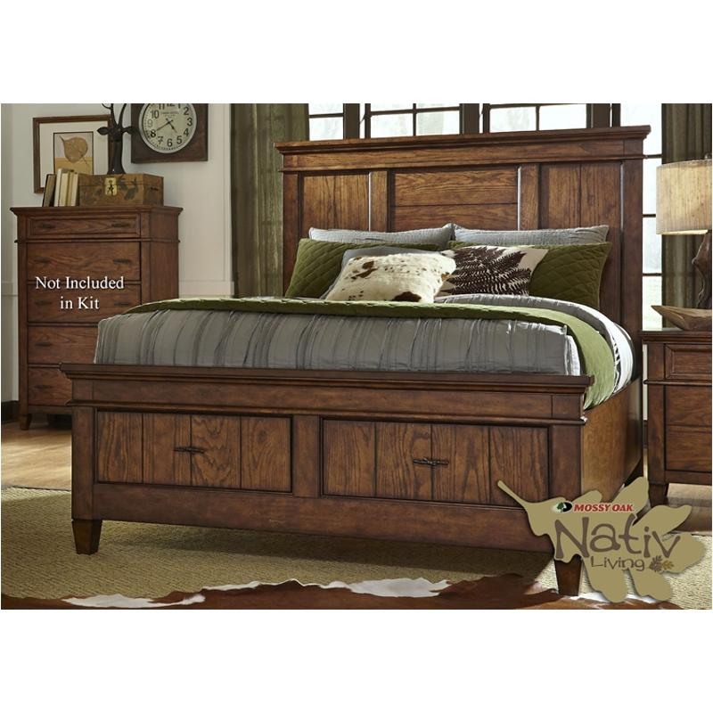616 br16fs liberty furniture king storage footboard and slats Mountain home bedroom furniture