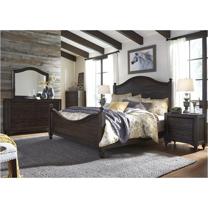 816 Br03 Liberty Furniture Catawba Hills Bedroom King Poster Bed
